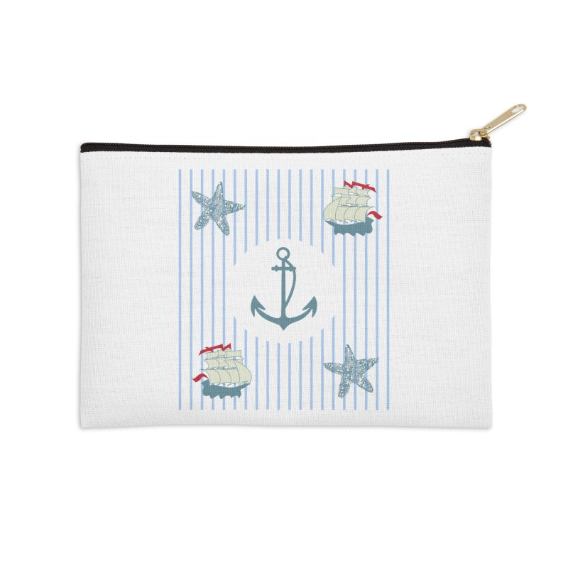 Nautical Accessories Zip Pouch by snapdragon64's Shop