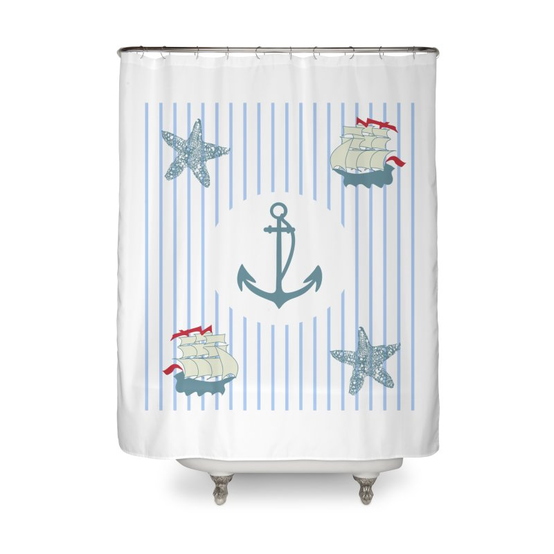 Nautical Home Shower Curtain by snapdragon64's Shop