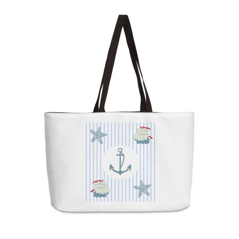 Nautical Accessories Weekender Bag Bag by snapdragon64's Shop