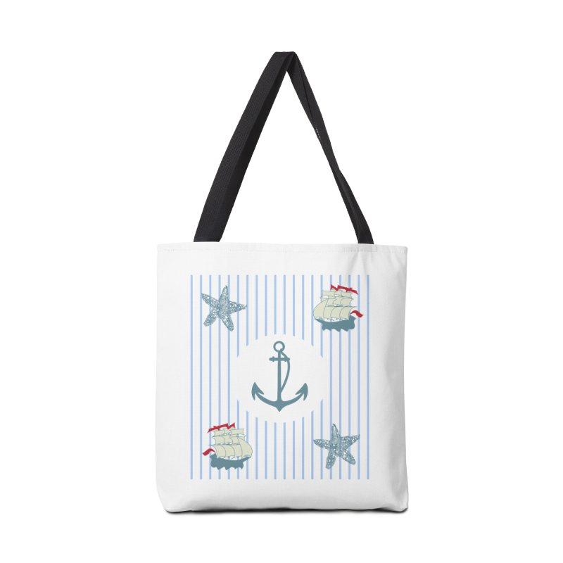 Nautical Accessories Tote Bag Bag by snapdragon64's Shop