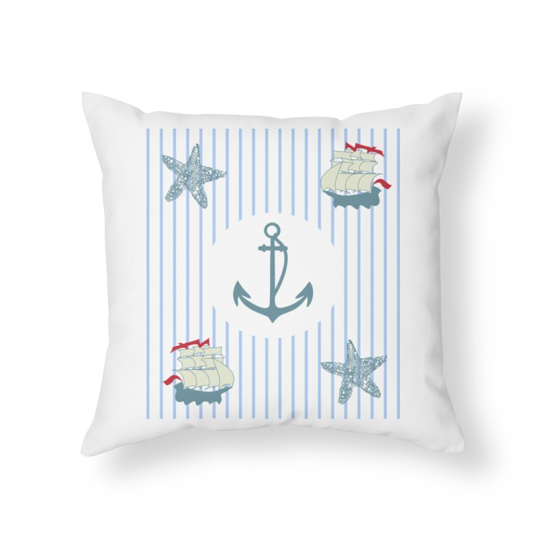 Nautical Home Throw Pillow by snapdragon64's Shop