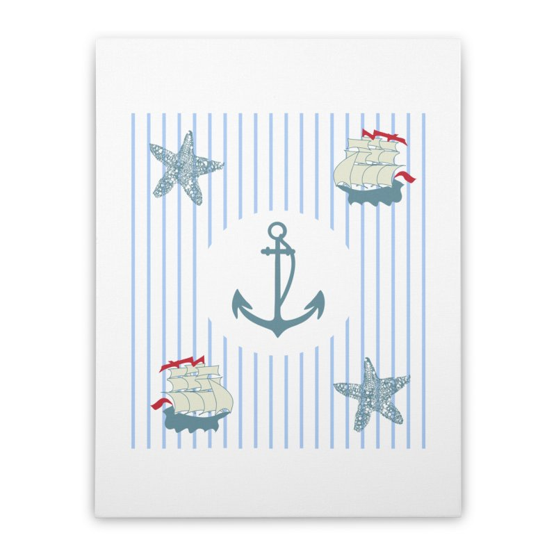Nautical Home Stretched Canvas by snapdragon64's Shop