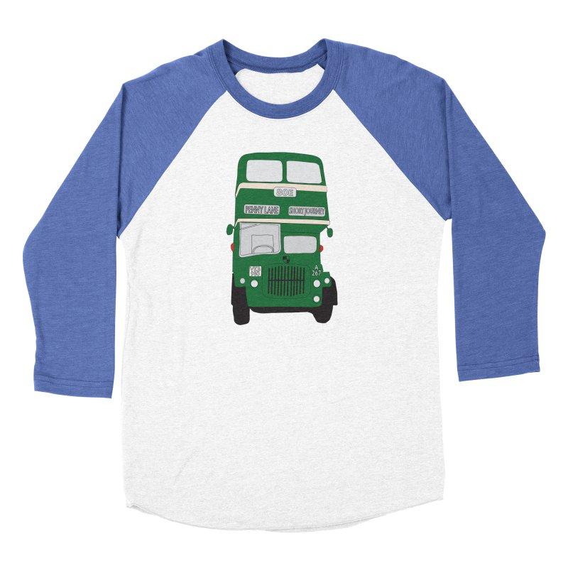 Penny Lane Liverpool bus Women's Baseball Triblend Longsleeve T-Shirt by snapdragon64's Shop