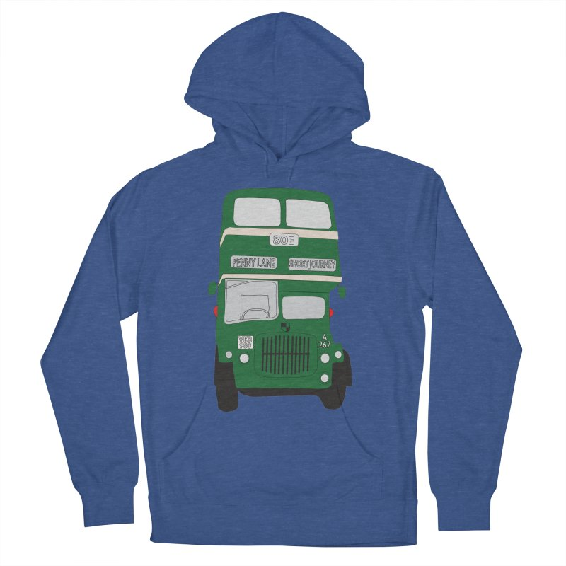 Penny Lane Liverpool bus Men's French Terry Pullover Hoody by snapdragon64's Shop