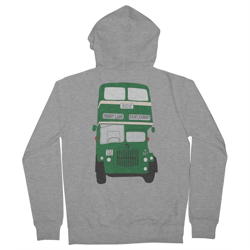 Penny Lane Liverpool bus Women's French Terry Zip-Up Hoody by snapdragon64's Shop
