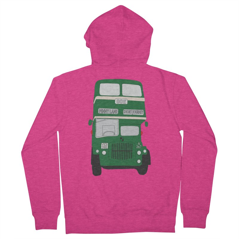 Penny Lane Liverpool bus Women's Zip-Up Hoody by snapdragon64's Shop