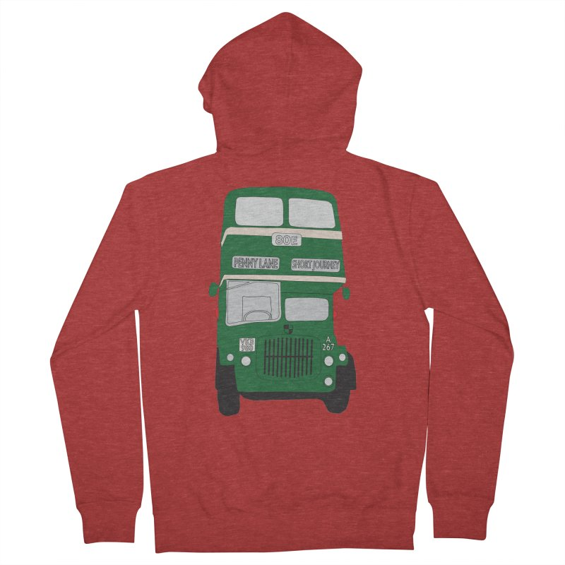 Penny Lane Liverpool bus Men's French Terry Zip-Up Hoody by snapdragon64's Shop