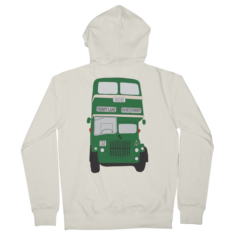 Penny Lane Liverpool bus Men's Zip-Up Hoody by snapdragon64's Shop