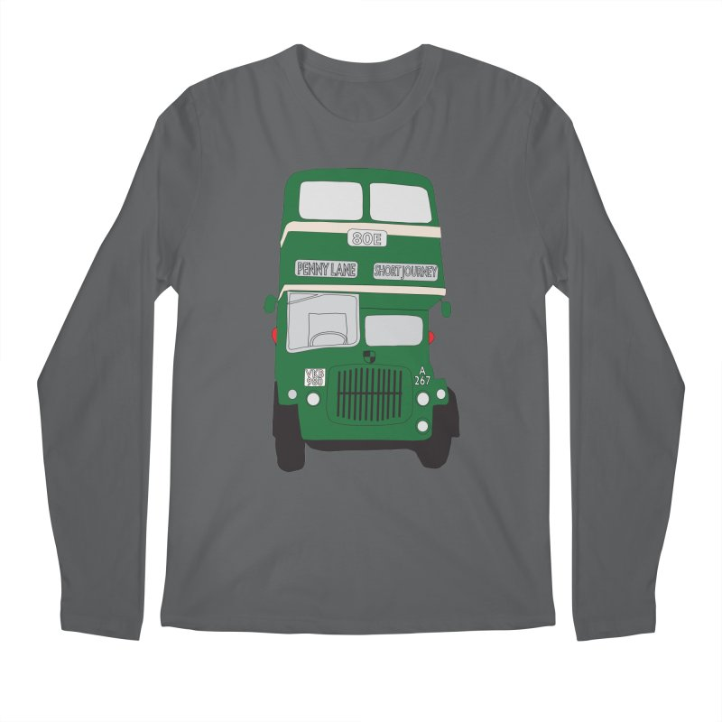 Penny Lane Liverpool bus Men's Regular Longsleeve T-Shirt by snapdragon64's Shop
