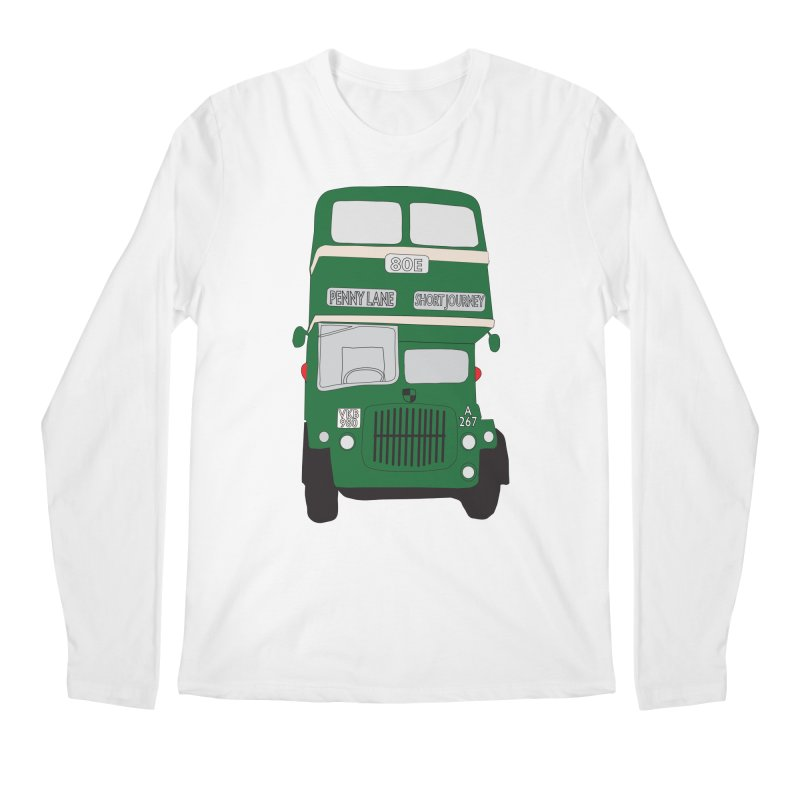 Penny Lane Liverpool bus Men's Regular Longsleeve T-Shirt by snapdragon64's Shop