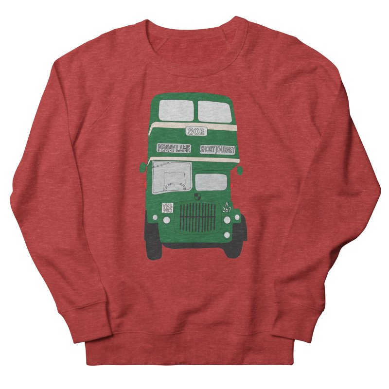 Penny Lane Liverpool bus Women's French Terry Sweatshirt by snapdragon64's Shop
