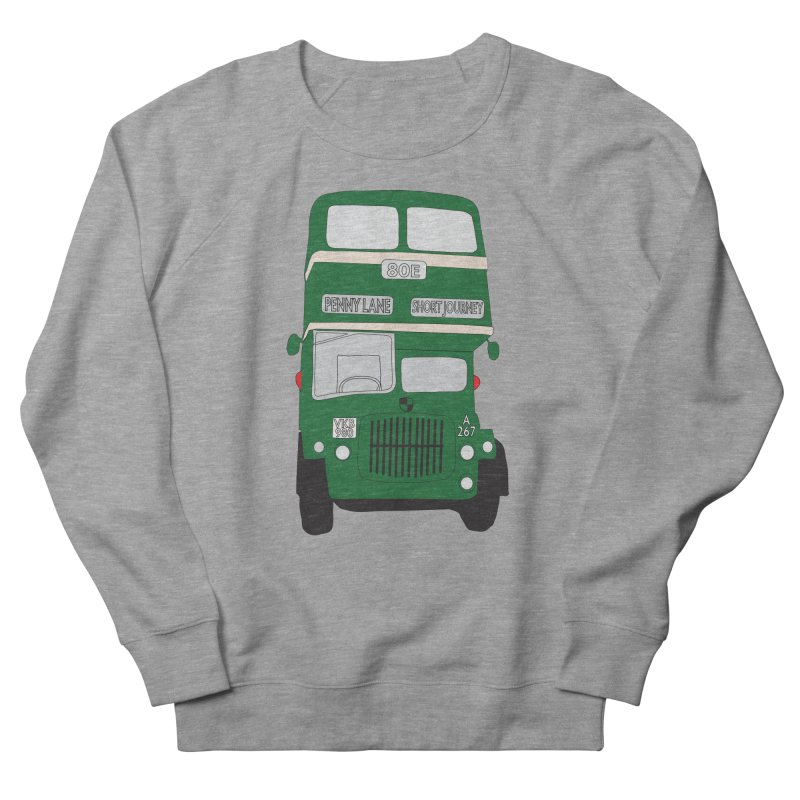 Penny Lane Liverpool bus Men's French Terry Sweatshirt by snapdragon64's Shop