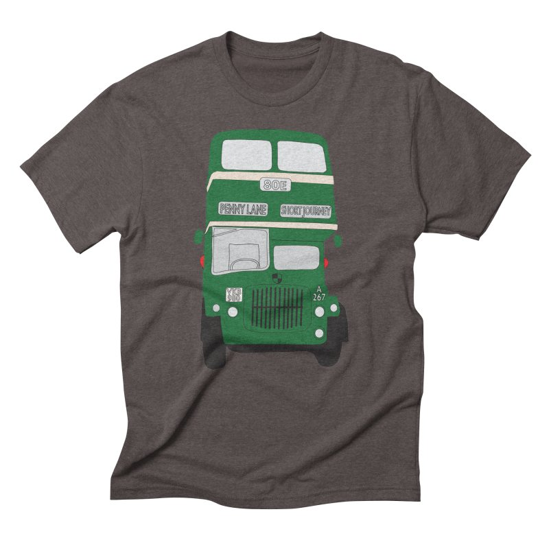 Penny Lane Liverpool bus Men's Triblend T-Shirt by snapdragon64's Shop
