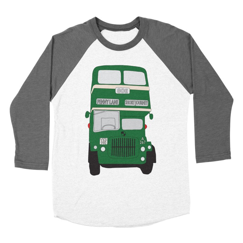 Penny Lane Liverpool bus Women's Baseball Triblend T-Shirt by snapdragon64's Shop