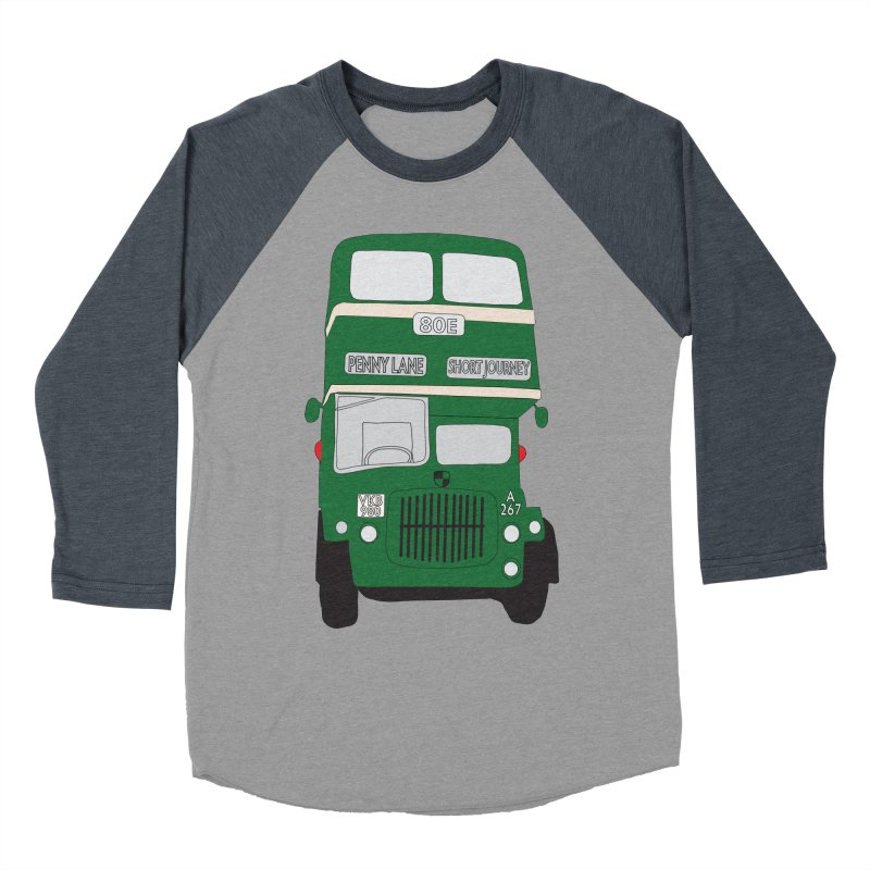 Penny Lane Liverpool bus Women's Baseball Triblend Longsleeve T-Shirt by snapdragon64's Shop