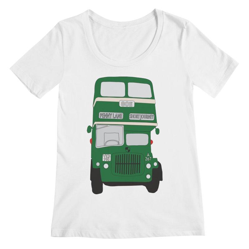 Penny Lane Liverpool bus Women's Regular Scoop Neck by snapdragon64's Shop
