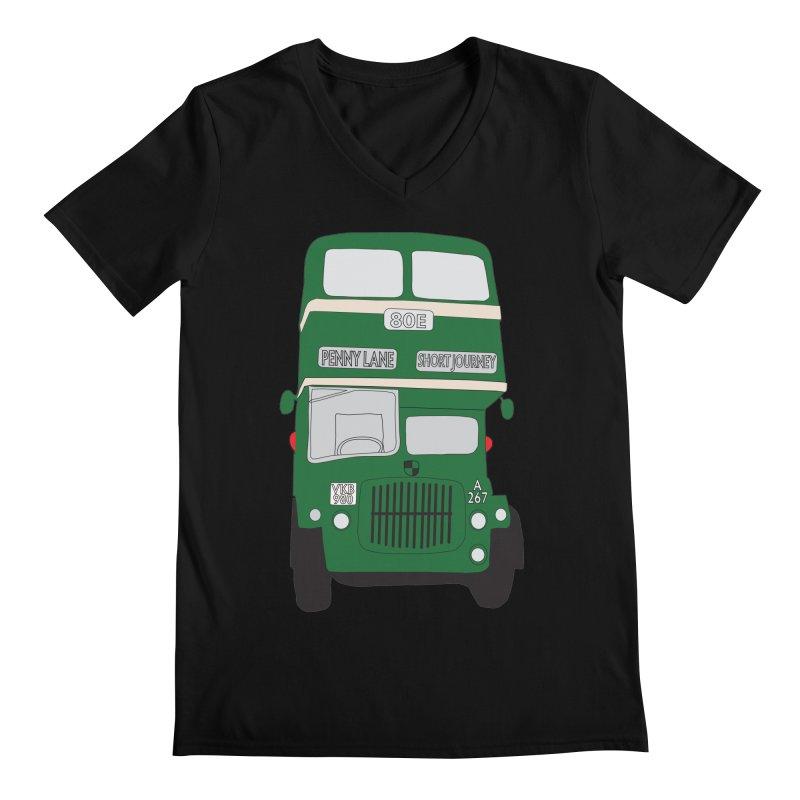 Penny Lane Liverpool bus Men's Regular V-Neck by snapdragon64's Shop