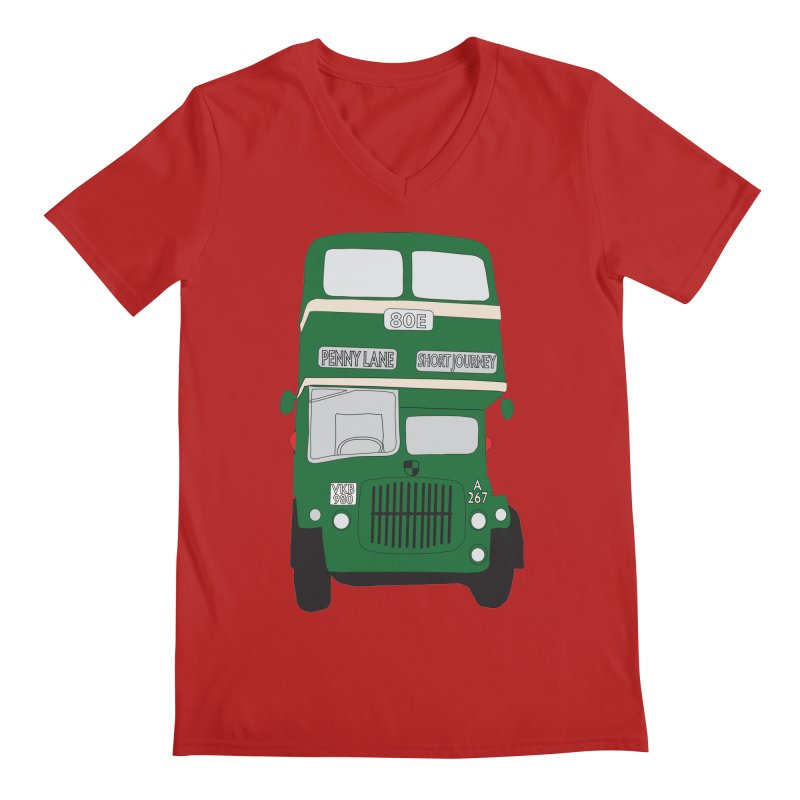 Penny Lane Liverpool bus Men's V-Neck by snapdragon64's Shop