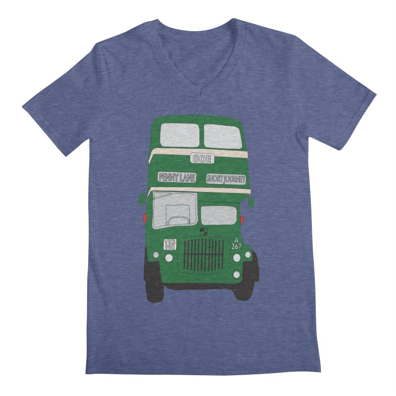 Penny Lane Liverpool bus Men's Regular V-Neck by snapdragon64's Shop