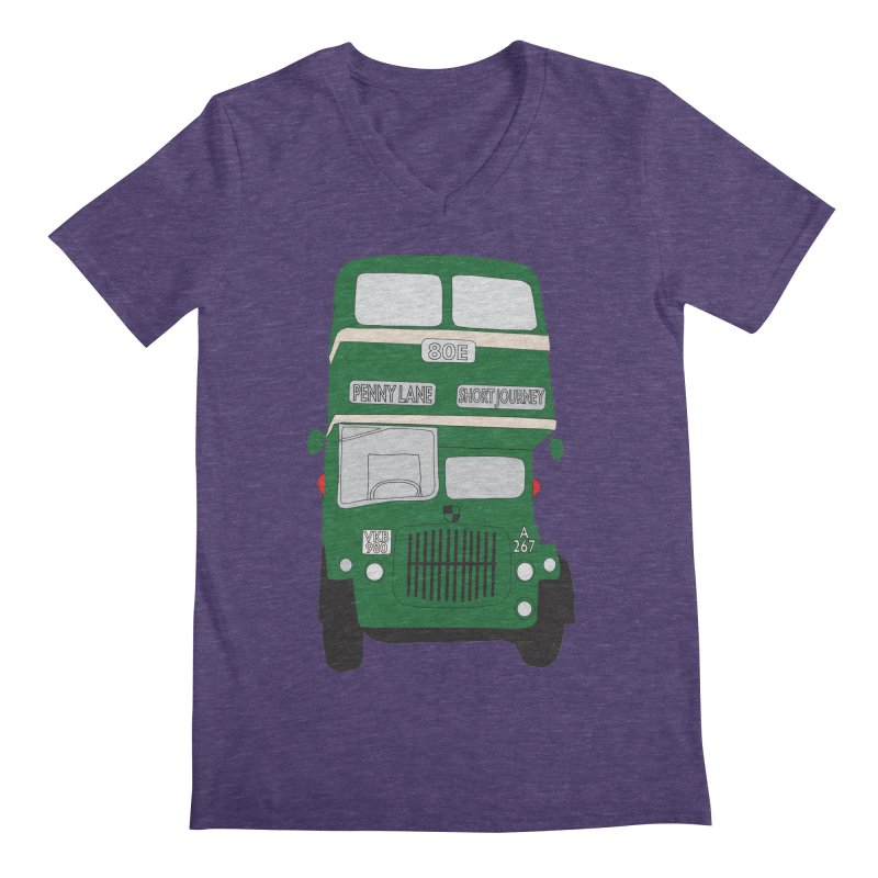 Penny Lane Liverpool bus Men's V-Neck by snapdragon64's Shop