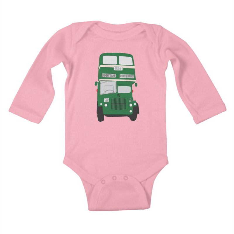 Penny Lane Liverpool bus Kids Baby Longsleeve Bodysuit by snapdragon64's Shop