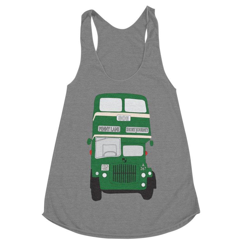Penny Lane Liverpool bus Women's Racerback Triblend Tank by snapdragon64's Shop