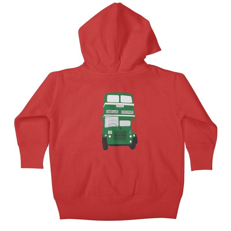 Penny Lane Liverpool bus Kids Baby Zip-Up Hoody by snapdragon64's Shop
