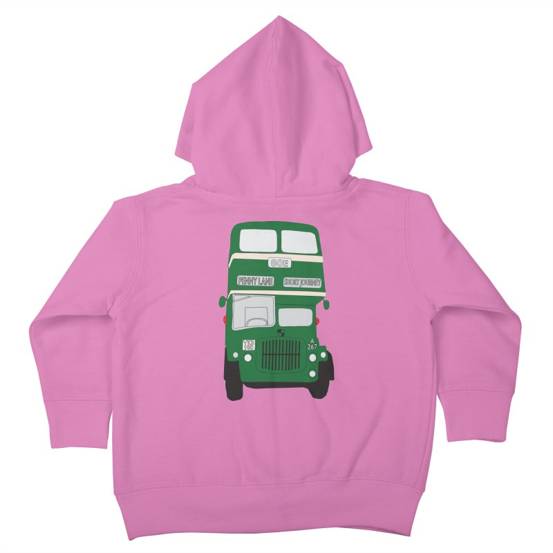 Penny Lane Liverpool bus Kids Toddler Zip-Up Hoody by snapdragon64's Shop