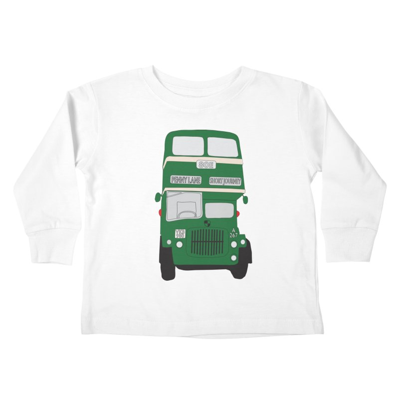 Penny Lane Liverpool bus Kids Toddler Longsleeve T-Shirt by snapdragon64's Shop