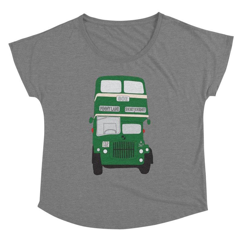 Penny Lane Liverpool bus Women's Dolman by snapdragon64's Shop