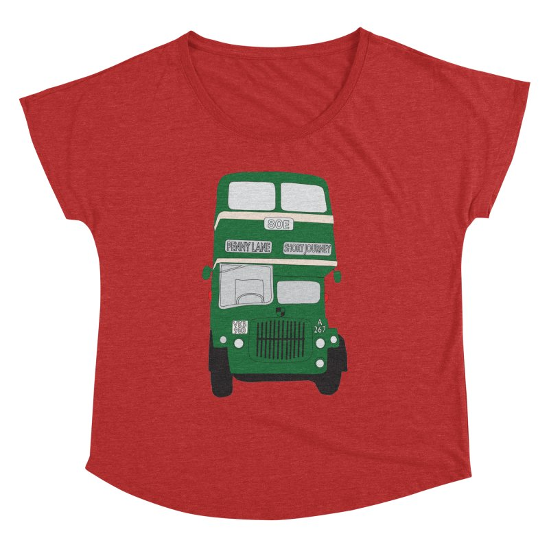Penny Lane Liverpool bus Women's Dolman Scoop Neck by snapdragon64's Shop