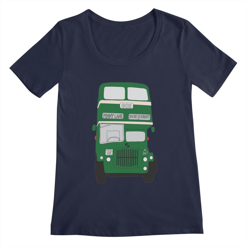 Penny Lane Liverpool bus Women's Regular Scoop Neck by snapdragon64's Shop
