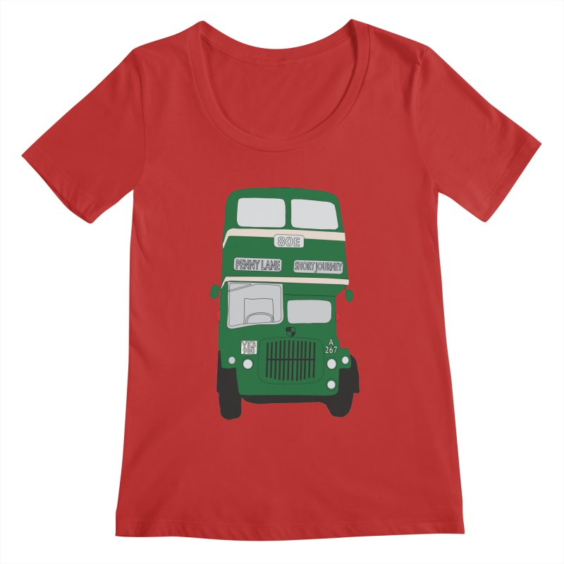 Penny Lane Liverpool bus Women's Scoopneck by snapdragon64's Shop