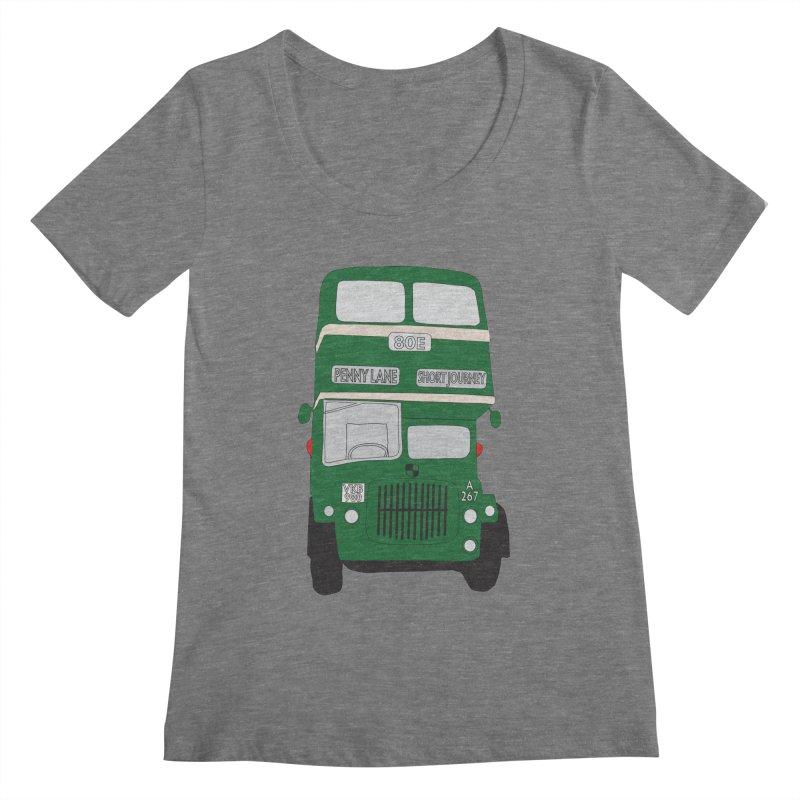 Penny Lane Liverpool bus Women's Scoopneck by snapdragon64's Shop