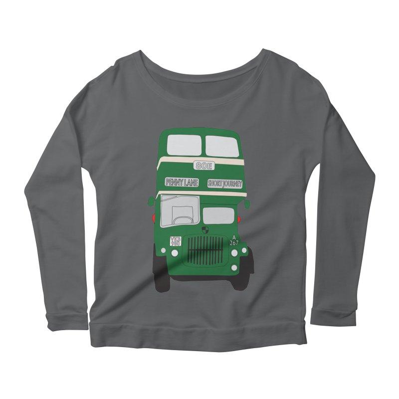 Penny Lane Liverpool bus Women's Scoop Neck Longsleeve T-Shirt by snapdragon64's Shop