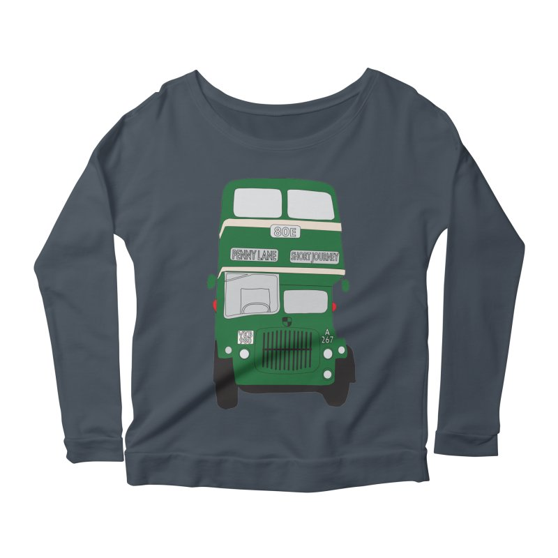Penny Lane Liverpool bus Women's Scoop Neck Longsleeve T-Shirt by snapdragon64's Shop