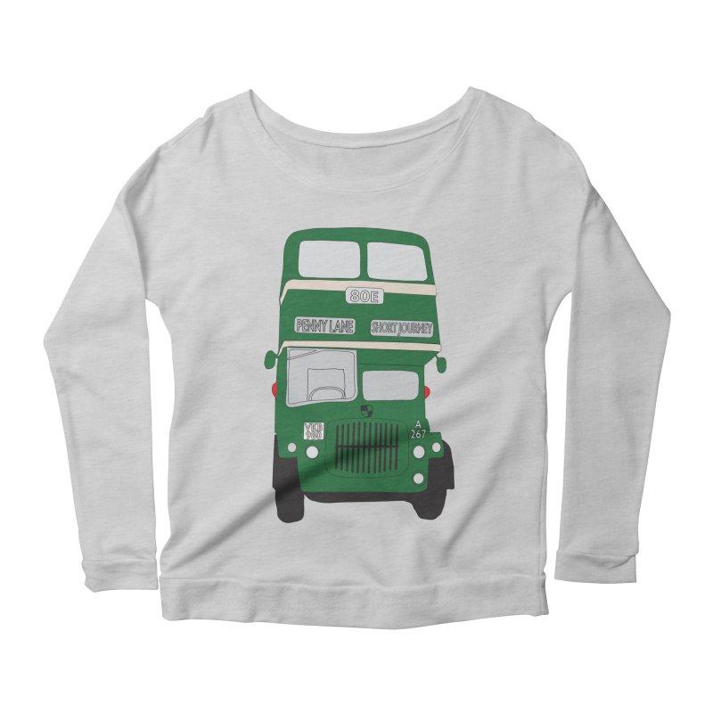 Penny Lane Liverpool bus Women's Longsleeve Scoopneck  by snapdragon64's Shop