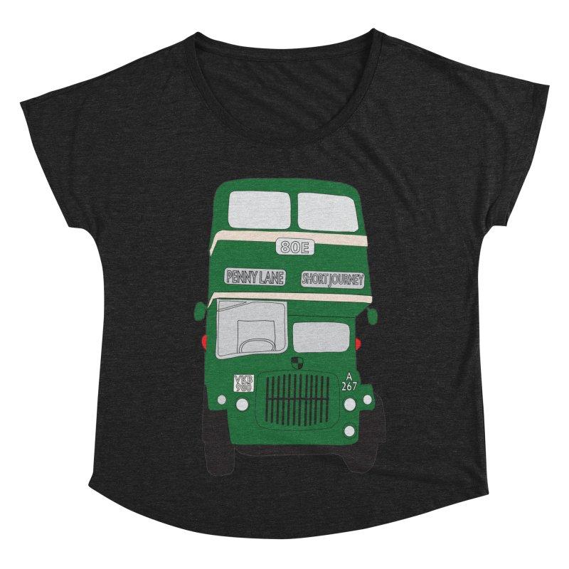Penny Lane Liverpool bus Women's Dolman Scoop Neck by snapdragon64's Shop