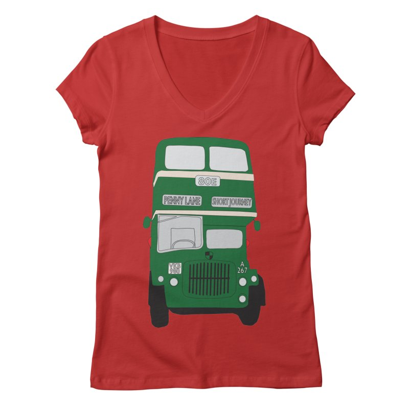 Penny Lane Liverpool bus Women's Regular V-Neck by snapdragon64's Shop