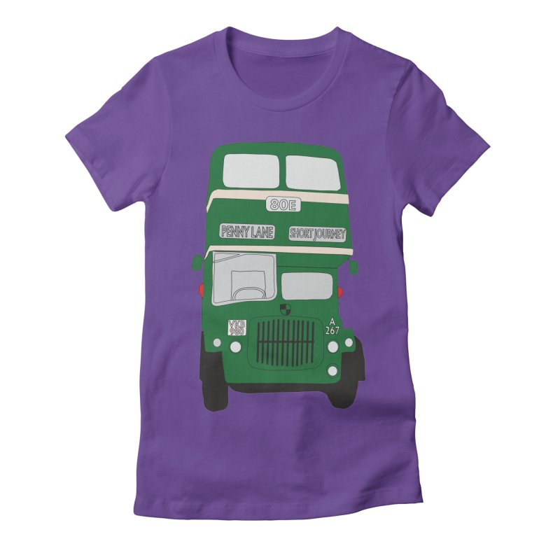 Penny Lane Liverpool bus Women's Fitted T-Shirt by snapdragon64's Shop