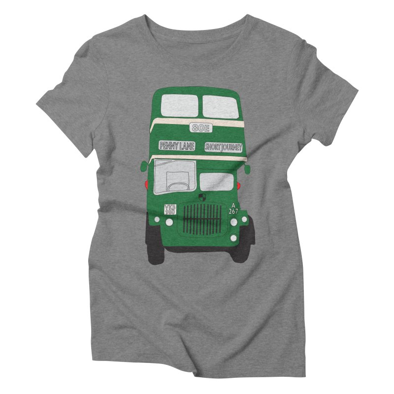 Penny Lane Liverpool bus Women's Triblend T-Shirt by snapdragon64's Shop