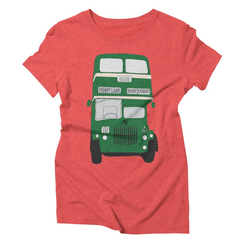 Penny Lane Liverpool bus Women's Triblend T-Shirt by snapdragon64's Shop