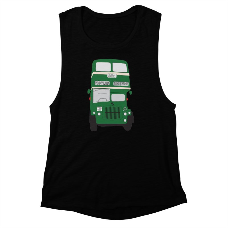 Penny Lane Liverpool bus Women's Muscle Tank by snapdragon64's Shop