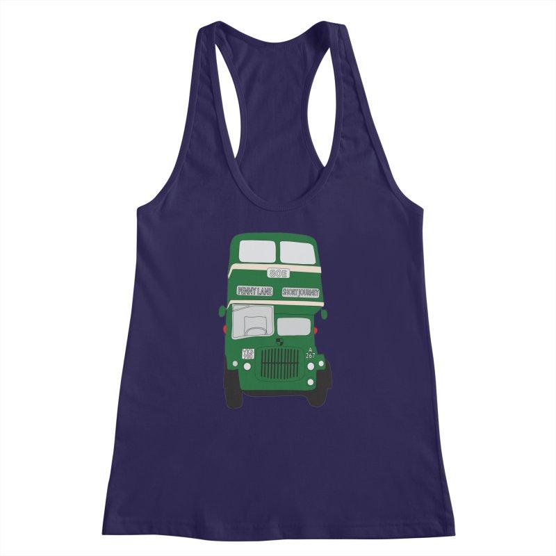 Penny Lane Liverpool bus Women's Racerback Tank by snapdragon64's Shop