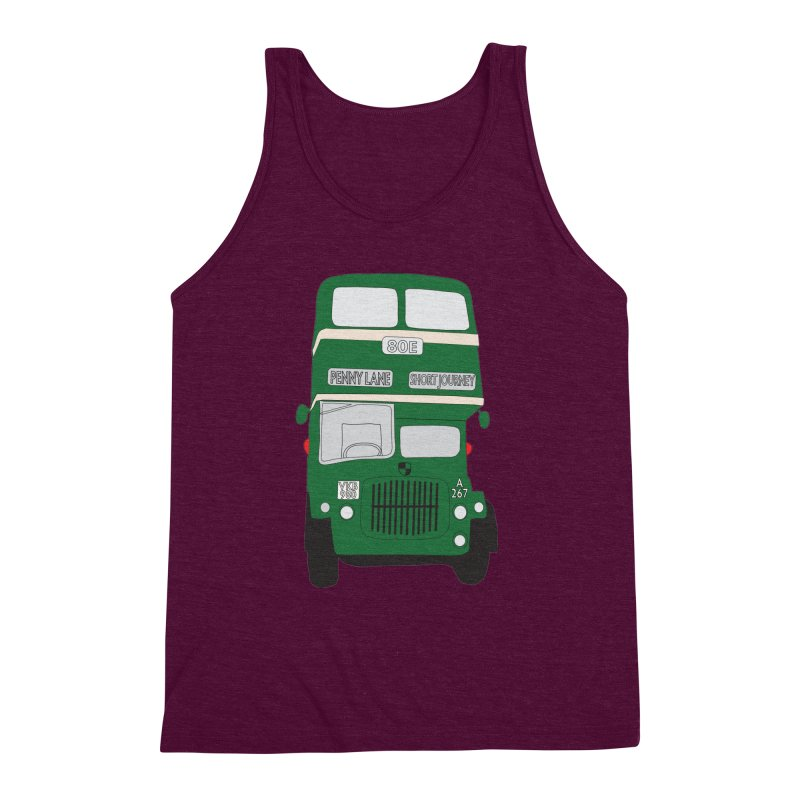 Penny Lane Liverpool bus Men's Triblend Tank by snapdragon64's Shop