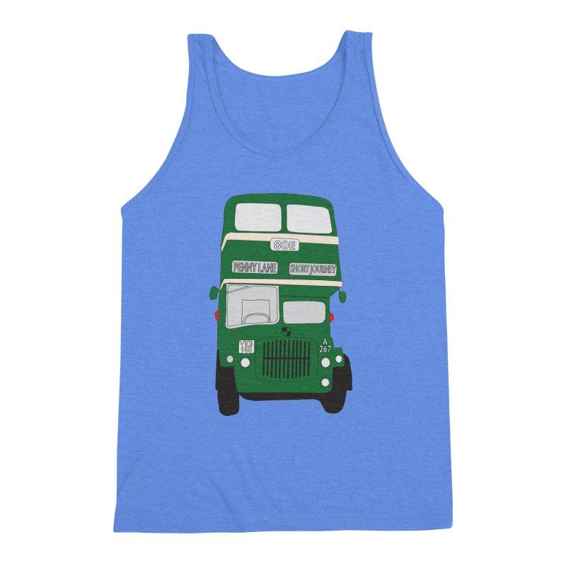 Penny Lane Liverpool bus Men's Triblend Tank by snapdragon64's Shop