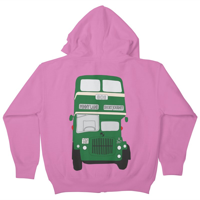 Penny Lane Liverpool bus Kids Zip-Up Hoody by snapdragon64's Shop