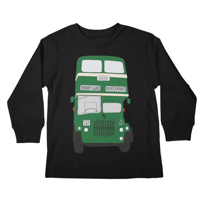 Penny Lane Liverpool bus Kids Longsleeve T-Shirt by snapdragon64's Shop