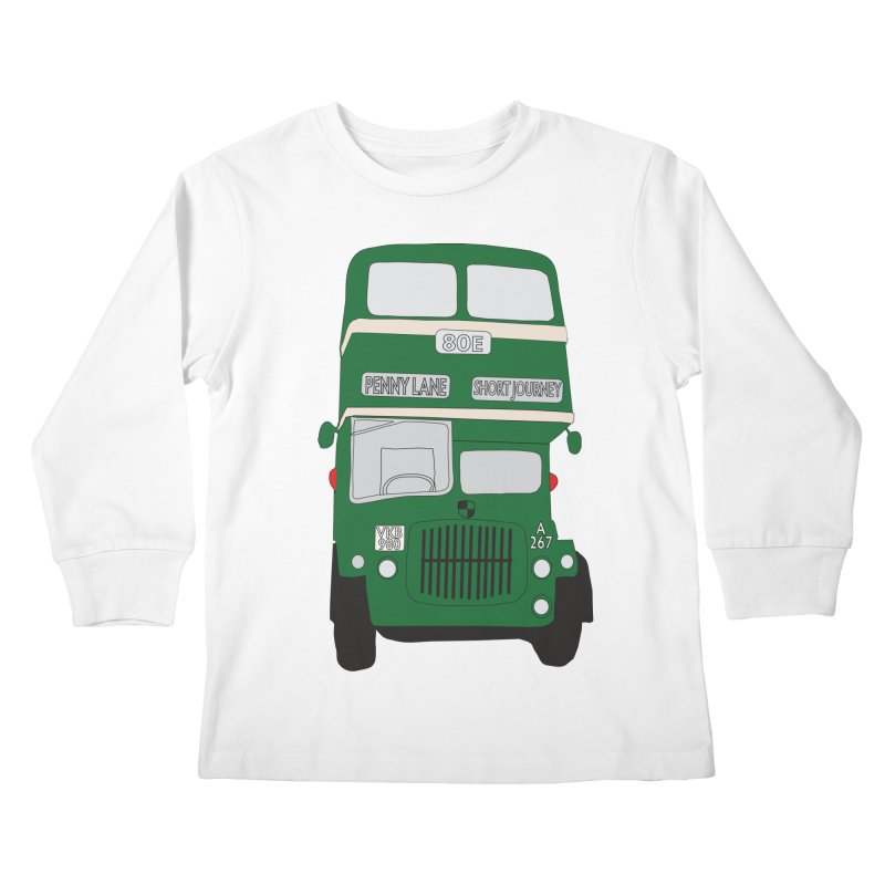 Penny Lane Liverpool bus Kids Longsleeve T-Shirt by snapdragon64's Shop