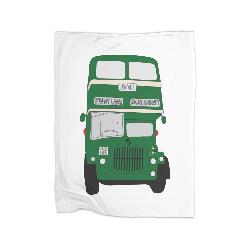 Penny Lane Liverpool bus Home Blanket by snapdragon64's Shop
